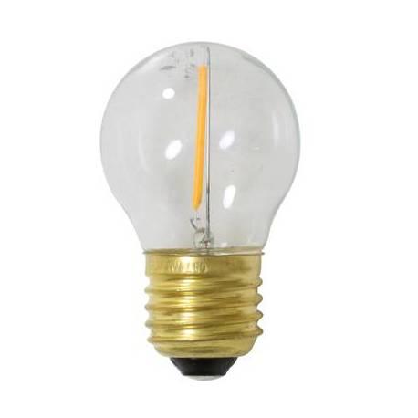 Ampoule Edison Sphérique à LED E27 Puissance 2W Dimmable Lumière Claire 4,5x4,5x7cm
