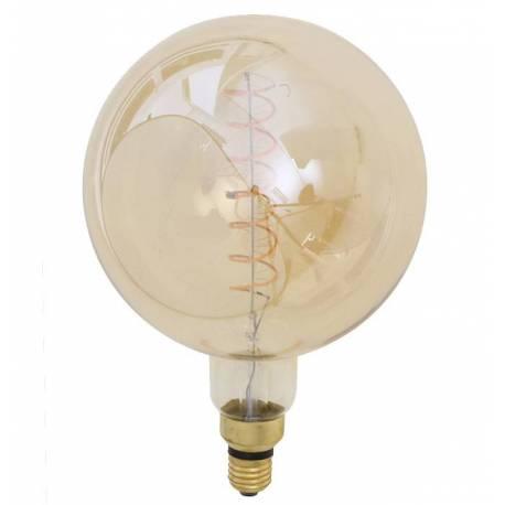 Ampoule Géante Edison Boule Sphérique à LED E27 Puissance 4W Dimmable Lumière Ambrée 20x20x28cm