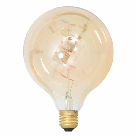 Grande Ampoule Edison Boule Sphérique à LED E27 Puissance 4W Dimmable Lumière Ambrée 12,5x12,5x17,5cm
