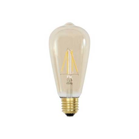 Ampoule Angulaire Evasée à LED E27 Dimmable Puissance 2W Lumière Ambrée 6,5x6,5x14,5cm