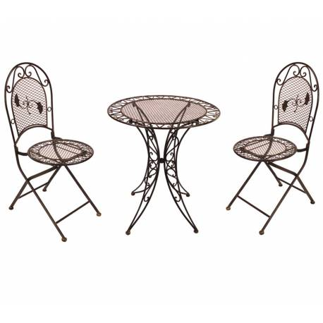 Salon de jardin 2 personnes salon de th bistrot 1 table 2 - Table de bistrot occasion ...