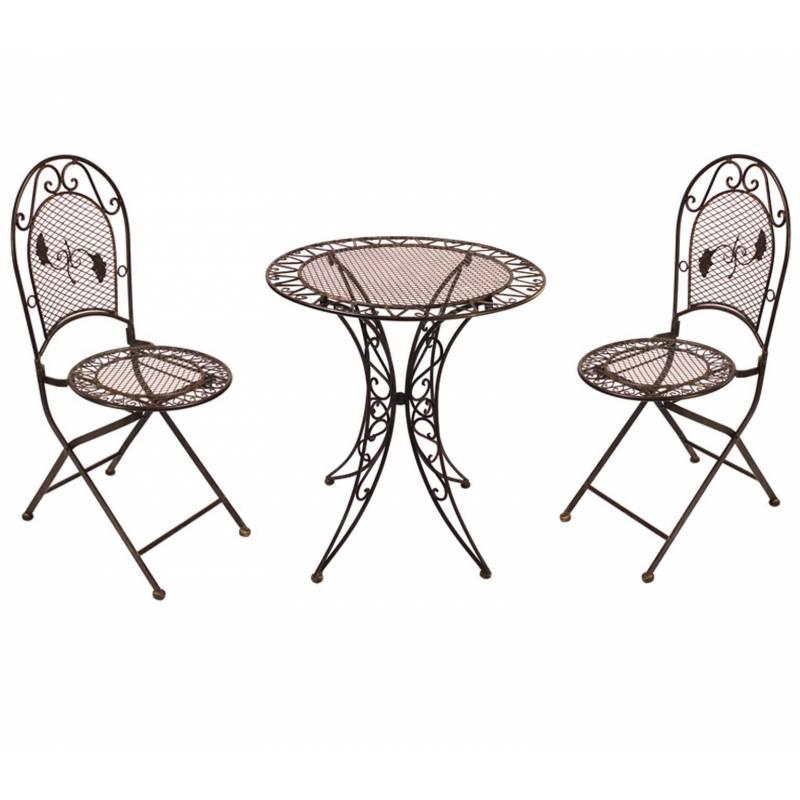 Salon de jardin 2 personnes salon de th bistrot 1 table 2 for Table de jardin 2 personnes