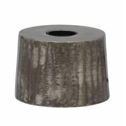 Lampe de Table de Chevet ou de Bureau Luminaire à Poser en Métal de Couleur Grise Socle Rond 8x12cm