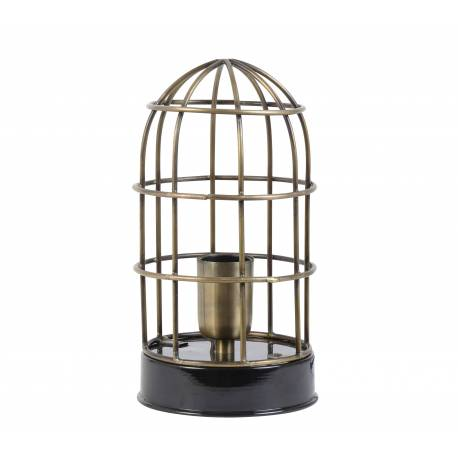 lampe carandira poser luminaire fa on cage oiseau eclairage 1 ampoule deco electrique en fer. Black Bedroom Furniture Sets. Home Design Ideas