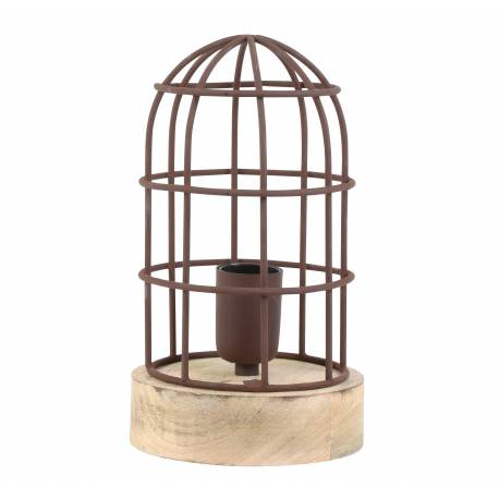 lampe carandira poser luminaire fa on cage oiseau eclairage 1 ampoule d co electrique fer et. Black Bedroom Furniture Sets. Home Design Ideas