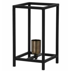 Luminaire d'Appoint MARLAY Tendance à Poser de Bureau de Table de Chevet Lanterne Métal Noir 14x14x25cm
