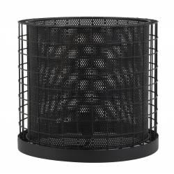 Luminaire Industriel CAJANA Lampe à Poser d'Appoint Tendance Salon ou Bureau en Métal de Couleur Noire 30x33cm