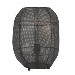 Luminaire AKOLA de Table Industriel Lampe à Poser d'Appoint Tendance Salon ou Bureau en Métal de Couleur Bronze 30x38cm