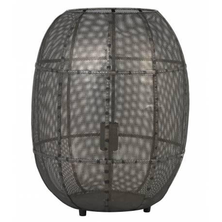 Luminaire AKOLA de Table Industriel Lampe à Poser d'Appoint Tendance Salon ou Bureau en Métal de Couleur Bronze 37,5x46cm