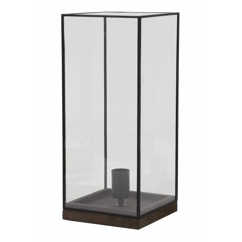 Eclairage askjer de chevet poser lampe de table de bureau d 39 appoint luminaire en bois et verre for Bureau d appoint