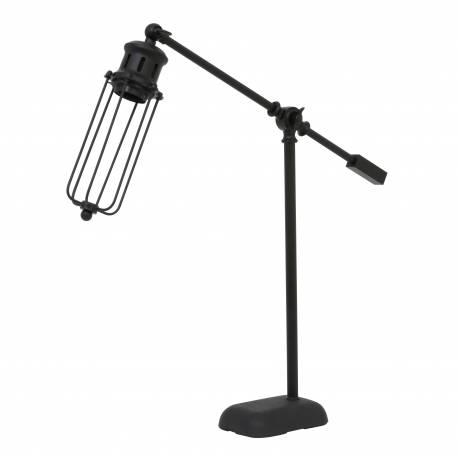 Lampe de Table à Poser DEVID Luminaire Design de Bureau Eclairage d'Appoint Tendance en Métal Teinté 9,5x52x57cm