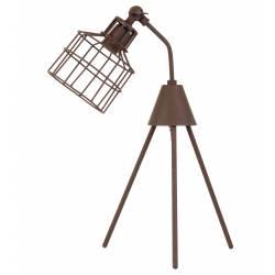 Eclairage à Poser sur Pieds MARAIS Lampe Articulée de Bureau de Salon en Métal Patiné Rouille 26x31x55cm