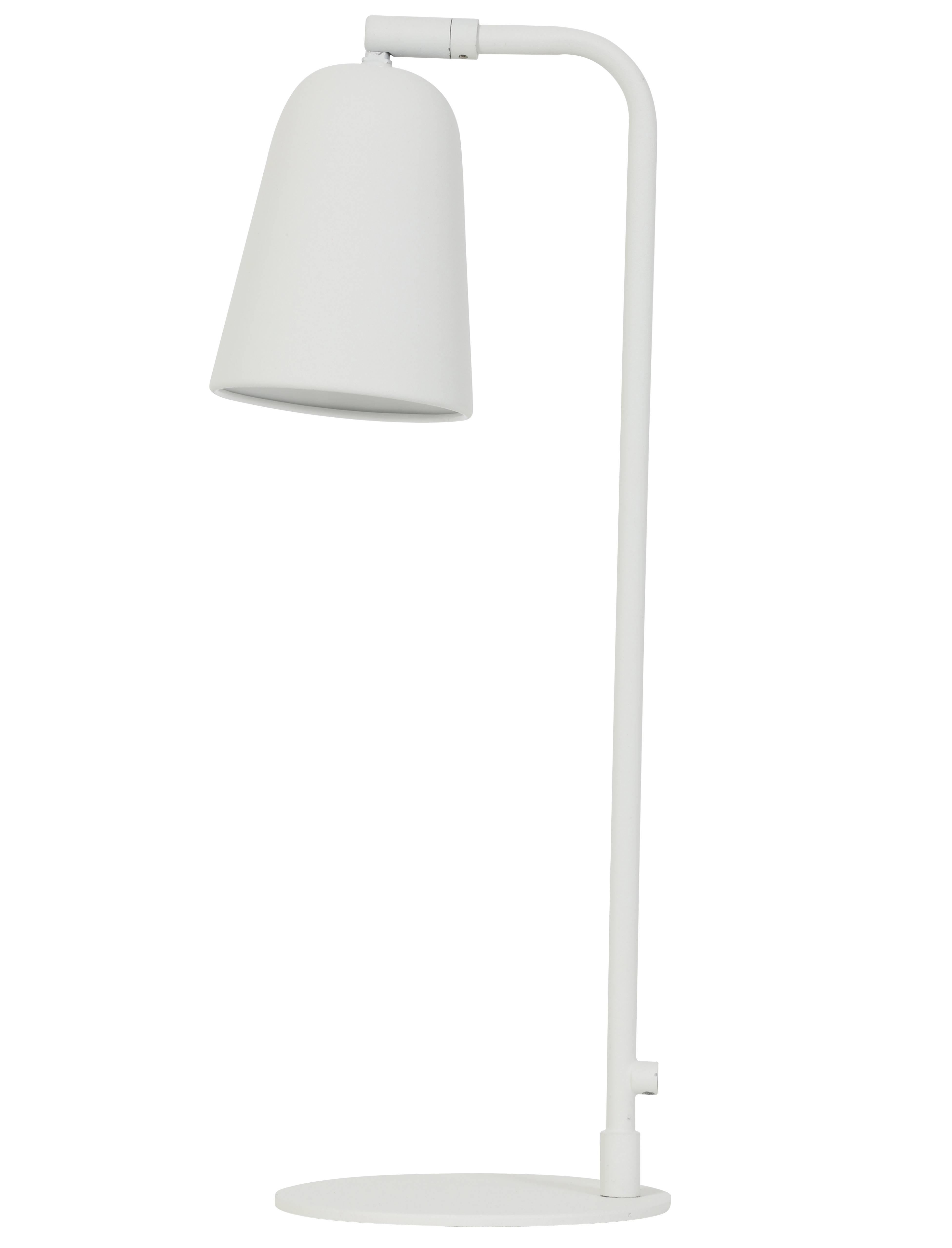 Coloris Abat De Eclairage Avec Jour Poser Bureau Lampe Luminaire 16x48cm Métal D'architecte À Salomo Blanc En WordCxeB