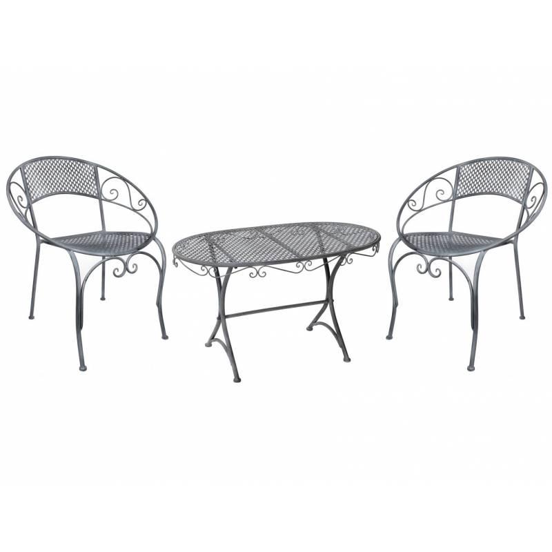 salon de jardin bas salon de th 2 places personnes table basse ovale et 2 chaises fauteuils en. Black Bedroom Furniture Sets. Home Design Ideas