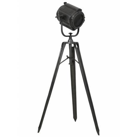 Luminaire Design Cinéma Projecteur Studio BUCHANON Eclairage sur Trépied en Métal Noir Mate 84x84x166cm