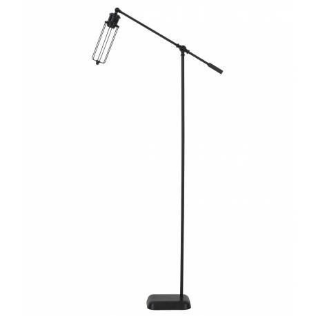 Eclairage Design sur Pied DEVID Lampadaire Tendance Lampe d'Appoint en Métal de Couleur Noire 16x65x143cm