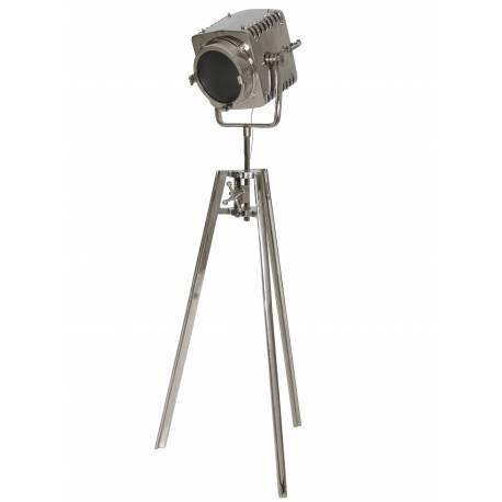 Eclairage d'Appoint GEORGE Projecteur de Poursuite Studio Lampadaire sur Trépied Industriel en Métal 42x72x200cm
