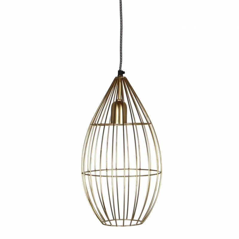 superbe suspension cage lustre tendance luminaire suspendre plafonnier eclairage 1 ampoule en. Black Bedroom Furniture Sets. Home Design Ideas