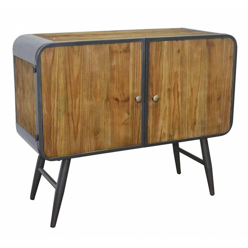 commode sur pieds cargo meuble de rangement tendance vintage en bois vieilli et ebay. Black Bedroom Furniture Sets. Home Design Ideas