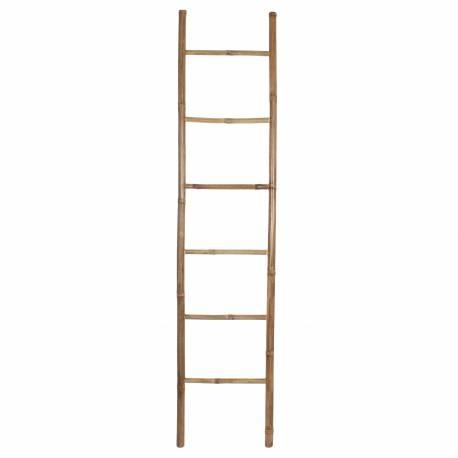 Echelle Décorative Tendance Porte Serviettes Exotique Etagère pour Foulards Echarpes en Bambou 4x42x183cm