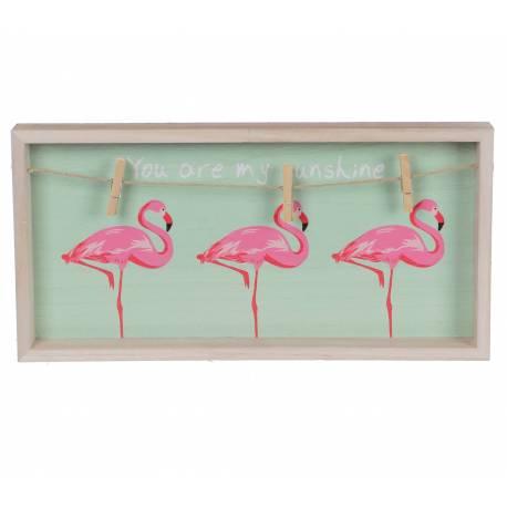 """Pêle Mêle Mural Tableau à Suspendre Motifs oiseaux Cadre Oiseau Exotique""""You Are My Sunshine""""Imprimé Bois Peint Vert3,5x20x40cm"""