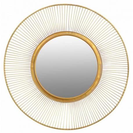 Superbe Miroir Lotus Marque Signature Glace Reflet Ronde Forme