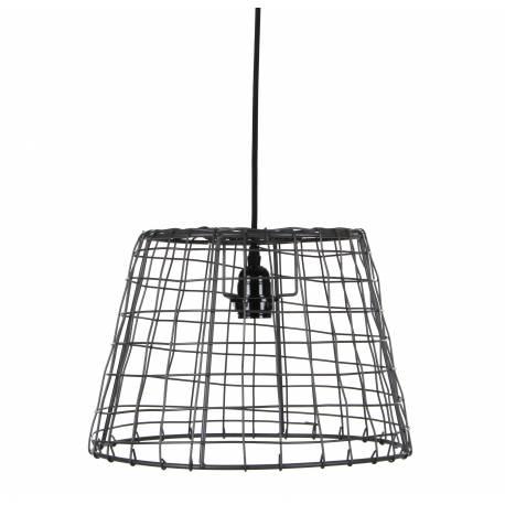 Suspension contemporaine et design plafonnier en forme de cage luminaire suspendre en m tal - Suspension contemporaine salon ...