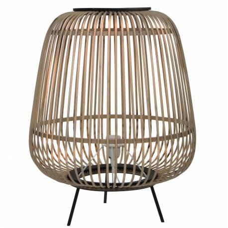 lampe d 39 appoint design luminaire poser eclairage tendance en rotin et bois et m tal noir. Black Bedroom Furniture Sets. Home Design Ideas