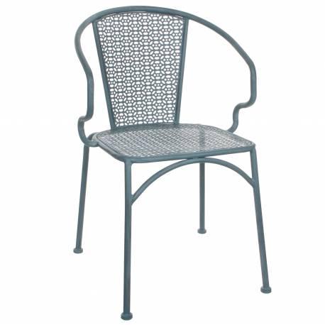 chaise de salon de jardin si ge de salon int rieur ext rieur fauteuil en m tal patin bleu. Black Bedroom Furniture Sets. Home Design Ideas