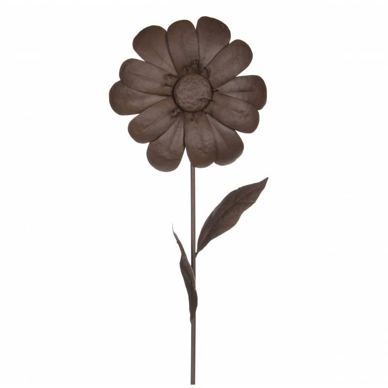 d coration de jardin florale fleur sur tige piquer dans jardin massif pot de fleur en m tal. Black Bedroom Furniture Sets. Home Design Ideas
