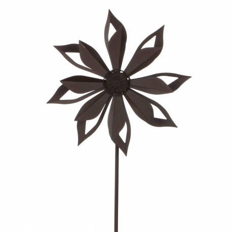 mobile pic tuteur de jardin eolienne moulin vent double. Black Bedroom Furniture Sets. Home Design Ideas