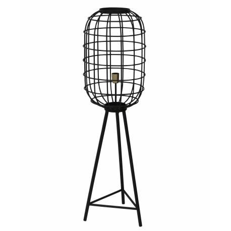 Eclairage Trépied TOAH Lampadaire Industriel Luminaire d'Appoint Moderne en Métal Patiné Noir 35,5x35,5x125cm