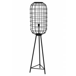 Eclairage Trépied TOAH Lampe sur Pied Industrielle Luminaire d'Appoint Moderne en Métal Patiné Noir 36,5x36,5x151cm