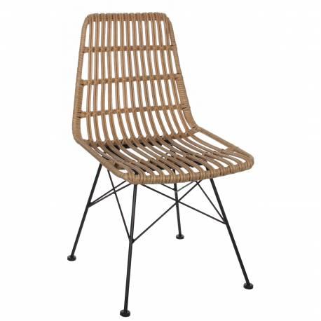 chaise de salle manger tendance si ge de salon jardin design ext rieur int rieur en m tal et. Black Bedroom Furniture Sets. Home Design Ideas