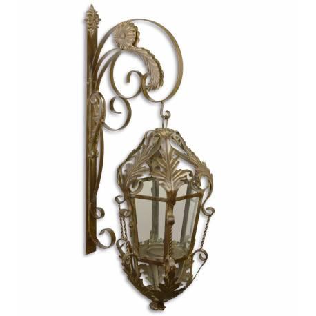 grande lanterne applique murale ext rieur ou int rieur. Black Bedroom Furniture Sets. Home Design Ideas