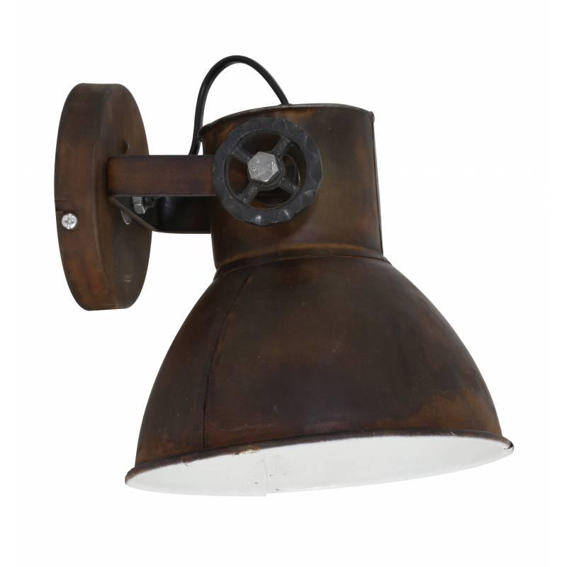 luminaire tendance elay applique ou plafonnier industriel rampe 1 spot en bois et m tal patin. Black Bedroom Furniture Sets. Home Design Ideas