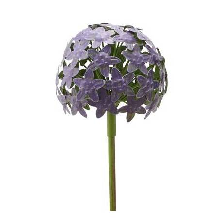 fleur d 39 allium sur tige d coration florale pour jardin massif ou pot de fleur en m tal color. Black Bedroom Furniture Sets. Home Design Ideas