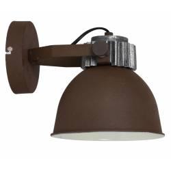 Luminaire Tendance Spot RAYLEN Applique ou Plafonnier industriel en Métal Patiné Rouille 20x22x27cm