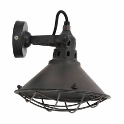 Applique ou Plafonnier Industrielle BERRY Eclairage Moderne Luminaire Spot en Métal Patiné Rouille 21x23x23cm
