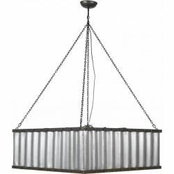 Grande Suspension INDUS Luminaire à Suspendre Tendance Marque Athezza Eclairage en Acier et Tôle Ondulée 77x77x117cm