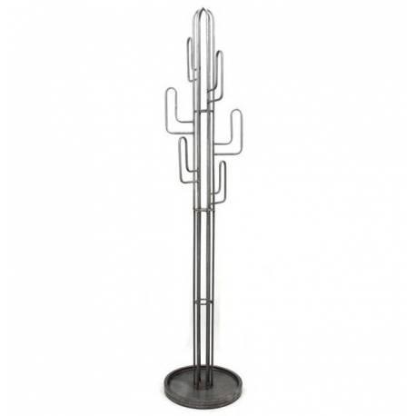 Grand Porte Manteau en Forme de Cactus Patères sur pied en Acier Verni 40x40x180cm