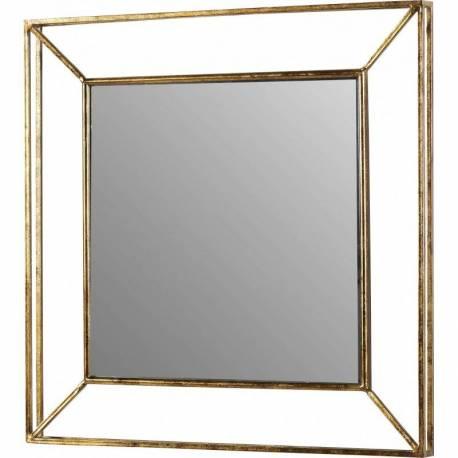 grand miroir rectangulaire zorba marque athezza glace murale trumeau r tro vintage en m tal dor. Black Bedroom Furniture Sets. Home Design Ideas