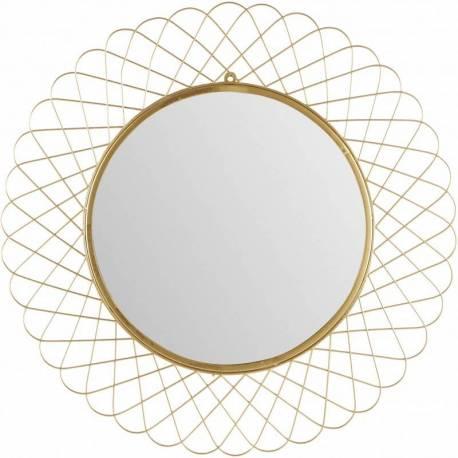 Superbe Miroir Rosa Marque Athezza Glace Reflet Ronde Forme Fleur