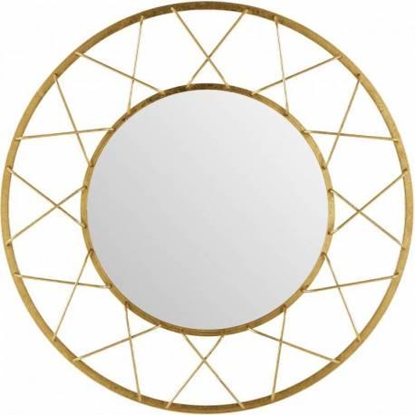 Superbe Miroir Marque Athezza Glace Reflet Ronde Forme Soleil