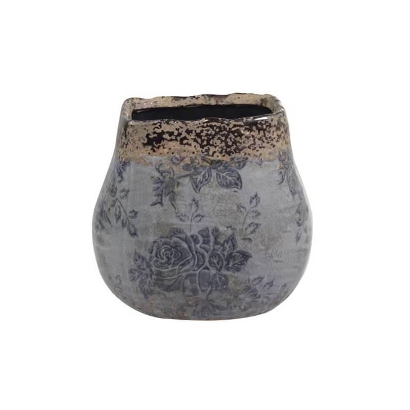 Grand Pot Décoratif Motifs Floraux Vase Pot à Crayons Broc