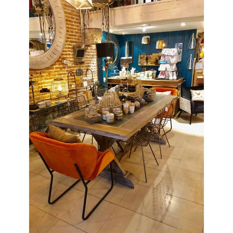 Fauteuil tendance luvana marque hanjel si ge de salon design chaise moderne en acier et velours - Fauteuil de salon design ...