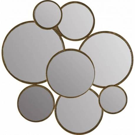 Miroirs Rondono Signé Athezza Ensemble de 8 Glaces Rondes Différents diamètres Deco Murale 2x88x90cm