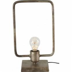 Lampe Rectangle Tora à Poser Luminaire Design Eclairage 1 Ampoule Electrique en Métal 15x22,5x37cm
