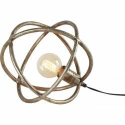 Lampe à Poser Sphère Marque Athezza Luminaire Lumière d'Appoint 1 Ampoule en Fonte d'Aluminium Brute 30x30x30cm
