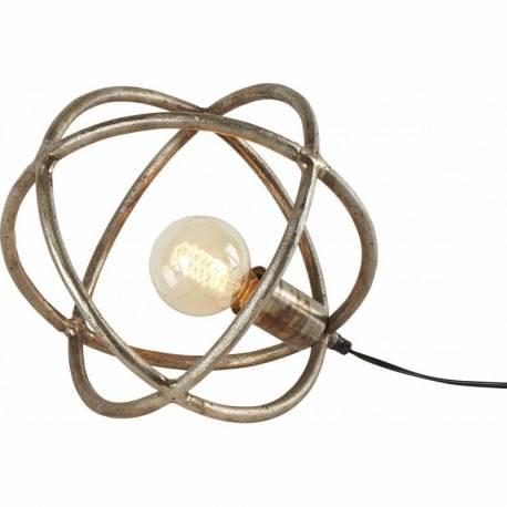 Brute 30x30x30cm 1 Lumière Sphère Fonte Luminaire D'aluminium À Poser D'appoint Lampe Ampoule En PnO8wk0X